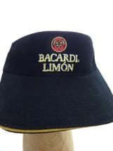 Bacardi Limon Sun Visor Ball Cap Golf Hat  BLACK Bat Rum - $15.00