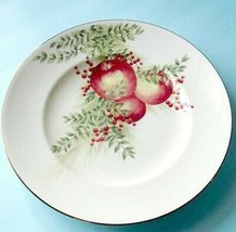 "Lenox Boxwood & Pine Apple Accent Luncheon Plate Williamsburg 9,25"" New - $32.90"