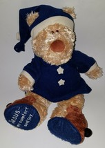 "Zeb Parable Brown Teddy Bear Plush Lovey 16"" Stuffed Animal Blue PJs GUN... - $29.65"