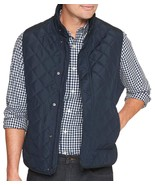 Banana Republic Mens Navy Blue Diamond Quilted Vest Jacket Coat XLarge X... - $67.57