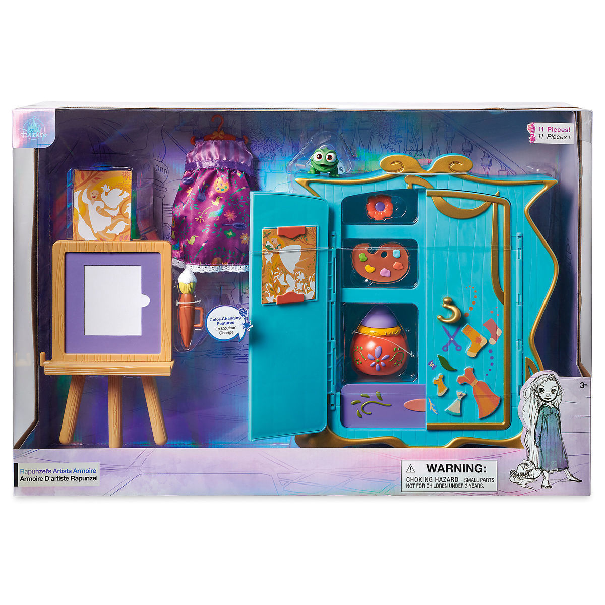 Disney Animators' Collection Rapunzel's Artist Armoire Playset New with Box