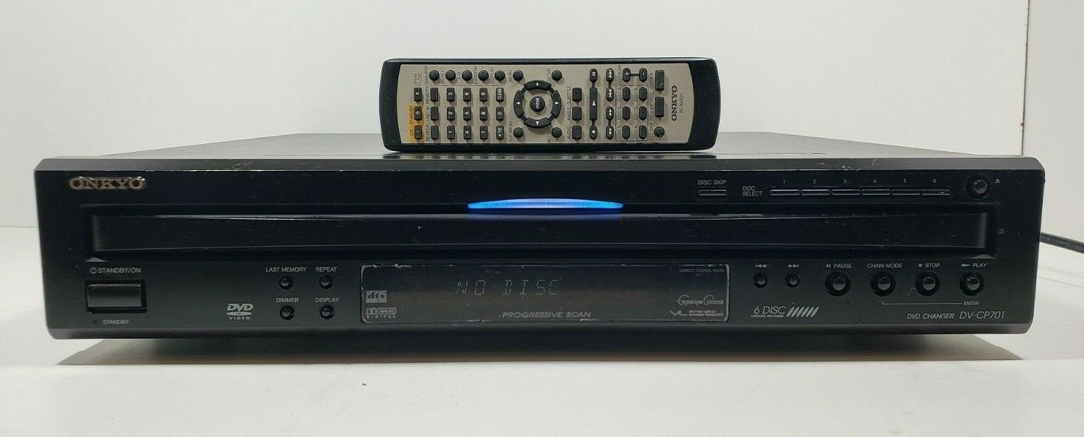 Onkyo 6 Disc Carousel DVD/ CD Changer DV-CP701 with Remote Tested