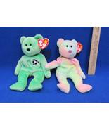 TY Beanie Babies Plush Original Stuffed Bears 1998 Kicks 1999 Groovy Lot... - $12.22