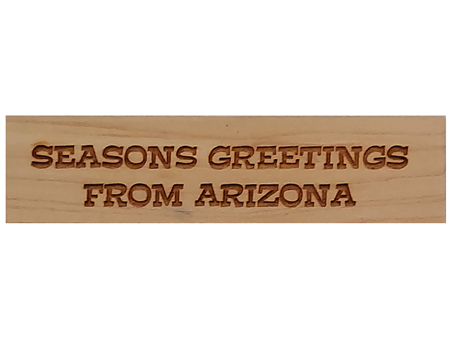 Stamp A Mania 2005 Seasons Greetings from Arizona Wood Mounted Rubber Stamp