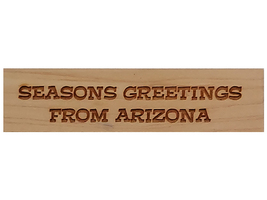 Stamp A Mania 2005 Seasons Greetings from Arizona Wood Mounted Rubber Stamp image 1