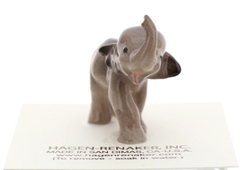 Hagen-Renaker Miniature Ceramic Wildlife Figurine Tiny Indian Elephant Baby image 2