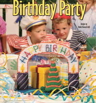 Plastic Canvas Birthday Party Centerpiece Gift Box Hats Tissue Cover Pat... - $9.99