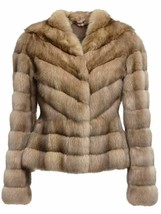 Russian Sable Fur Jacket Fit in Waist Zibeline Sobol Premium European Fur - $3,786.75