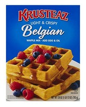 Krusteaz Light & Crispy Belgian Waffle Mix - No Artificial Flavors, Colors, or P