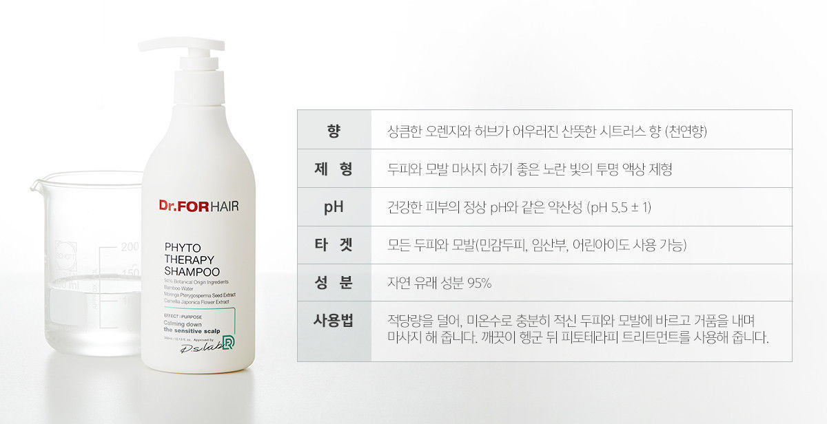 Dr.FORHAIR PHYTO THERAPY SPECIAL Shampoo 500ml + Treatment 500ml + Scaler 30gx2