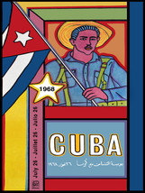 "16x20""Political World Solidarity Socialist Poster CANVAS.Cuba Castro.6224 - $50.00"