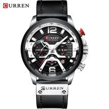 Wristwatch Mens CURREN 2019 Top Brand Luxury Sports Watch Men Fashion Leather Wa - $34.63