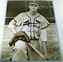 """STAN MUSIAL / AUTOGRAPHED 16 X 20 CARDINALS ROOKIE PHOTO / STAN """"THE MAN"""" HOLO image 2"""