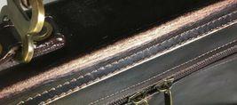 Santa Fe Dilana Vintage Dark Brown Leather Briefcase Laptop Bag – Distressed image 7