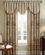 Waterford CONCERTO Cascade Amber Beaded Window Valances NEW - $33.20