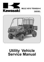 New Kawasaki Mule 4010 Trans 4x4 Diesel Service Manual 2009 2010 2011 20... - $35.00