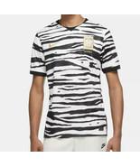 Nike Dri-Fit South Korea Zebra Stripe Soccer Jersey Men's CQ9158-100 Sz ... - $39.10