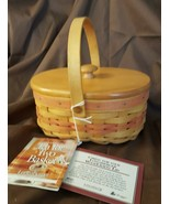 Longaberger 1999 Mother's Day Tea For Two Basket #14931 With Wood Lid - $29.95