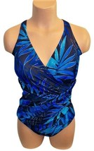 Miraclesuit Floral Print One-Piece Maillot Multi-Color Swimsuit S: 14 - $40.67