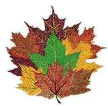 Fall At Its Best Unique Portraits [ Maple Leaves ] Embroidered Iron on/S... - $12.86