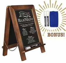 """Standing Double Sided Tabletop Kitchen Chalkboard 14"""" x 9.5"""" - Decorativ... - £18.91 GBP"""