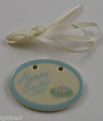 Primary image for Logaberger Pottery 2003 Happy Easter Tie-On Collectible Accessory Home Decor