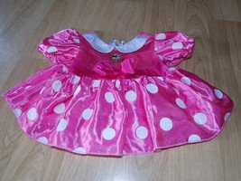 Size 12 Months Disney Store Minnie Mouse Costume Dress Pink White Polka Dots GUC - $24.00