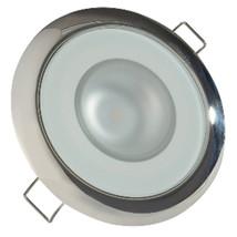 Lumitec Mirage - Flush Mount Down Light - Glass Finish/Polished SS Bezel - Wh... - $74.54