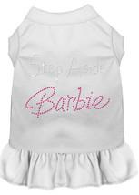 Step Aside Barbie Rhinestone Dress White 4X (22) - $17.00