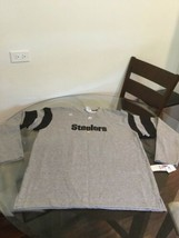 NWT Pittsburgh Steelers Gray NFL Team Apparel Sweatshirt Medium New With... - $10.93
