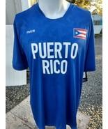 NWT MITRE ProFlow Mens Team Puerto Rico Short Sleeve dri fit jersey shirt  - $17.97