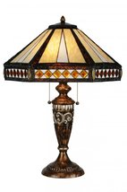 "Meyda Tiffany 139416 Diamond Mission Table Lamp, 26.5"" Height - $433.80"