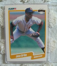 1990 Fleer Complete Baseball Set Binder With Jose Uribe #74 Sammy Sosa #548 RC - $15.99