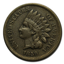 1859 Indian Head Penny / Cent Coin Lot# A 1748