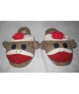 So Cute Size 5-6 Nick & Nora SOCK MONKEY Slippers - $23.04