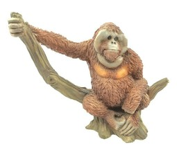 "1990 Castagna Monkey Gorilla Sitting on a Tree Branch 6 1/4""L x 5 1/4""H ... - $36.86"