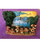 3D HAWAII FIGURINE PHOTO FRAME HULA GIRLS SINGING - CUTE - $19.99