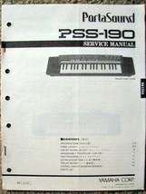 Yamaha PSS-190 Portasound Keyboard Original Service Manual, Schematics, ... - $18.76