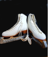 Riedell Retro Ice Skating Boot 220W 6 John Wilson Excel Blades And Cover... - $242.55