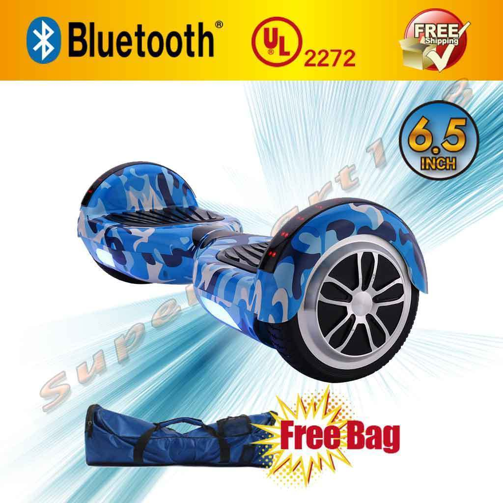 Camouflage Sky Blue LED Bluetooth Hoverboard Two Wheel Balance Scooter UL2272