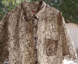 Hilo Hattie The Hawaiian Original Mens Island TAN BROW Hawaiian Shirt~X-... - $17.99