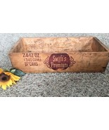 Vtg Swift's Premium Corned Beef Wooden Advertising Box Crate Tote Prim B... - $25.73