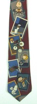 "Peanuts ""The Games of Life"" Maroon Tie 100% Silk Made in USA - $18.32"