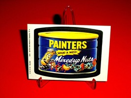 """1974 Wacky Packages Original Series 10 """"Painter's MIXED-UP Nuts"""" Sticker Card - $5.44"""