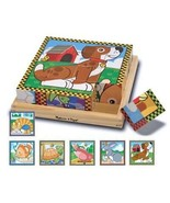 Melissa & Doug Pets Wooden Cube Puzzle With Storage Tray  Fast Free Ship... - $18.32