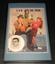 1961 LSU vs Georgia Tech Football Framed 10x14 Poster Official Repro - $37.04