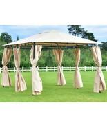 Steel Gazebo Large Waterproof Screen Metal 10x13 Sunshade Curtains Tent ... - $193.04