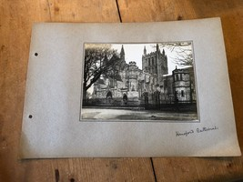 ANTIQUE/VINTAGE PHOTO OF HEREFORD CATHEDRAL (ENGLAND) A4-SIZED - $6.79