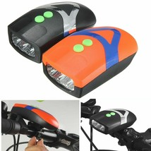 High Quality Bicycle LED Front Light With Bell Horn 3 AAA Battery Power ... - $16.99