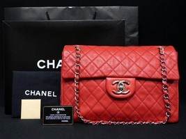 CHANEL Matelasse Chain Shoulder Bag Pouch Red Woman Luxury Auth New Unus... - $3,769.25